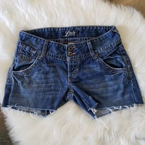 B2G1 Lucky Brand Cut Off Denim Shorts